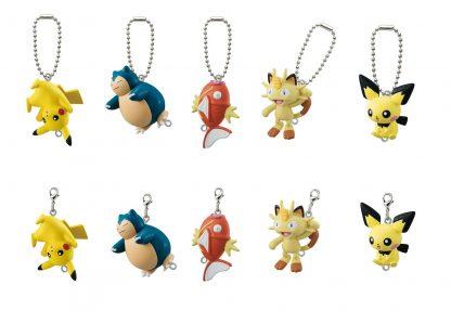 5pc Pokemon Pinched Keychain Clips Classics Gachapon