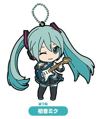 Gacha - Miku Selection 01 - Rubber Keychain