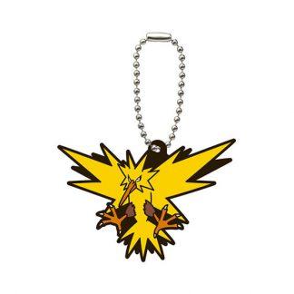 Gacha Pokemon Rubber Keychain Zaptos