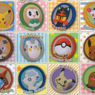 Gacha - 3pc Pokemon Sun & Moon - Rubber Pin Badges