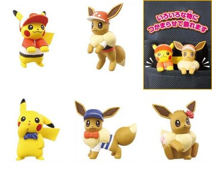 Pokemon Lets Go Set: Pikachu & Evee Adventure Mascot (Gacha) (5pc Set)